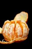 Satsuma mandarin black background Royalty Free Stock Images