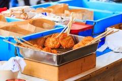 Satsuma wiek, japończyk smażący minced ryba Obraz Royalty Free