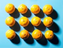12 satsumas Стоковая Фотография