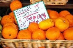 Satsumas sem sementes para a venda Imagens de Stock Royalty Free