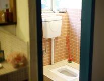Satt toalett Arkivbild