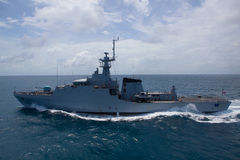 Free SATTAHEEP, THAILAND - June 21: H.T.M.S. Krabi, An Offshore Patrol Vessel Of The Royal Thai Navy Test Control System And Speed Royalty Free Stock Image - 33603206