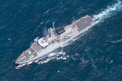 Free SATTAHEEP, THAILAND - June 21: H.T.M.S. Krabi, An Offshore Patrol Vessel Of The Royal Thai Navy Test Control System And Speed Royalty Free Stock Photography - 33603287