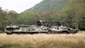 Sattahip, ο Ιαν. 2018: 8Ã-8-κυλιεισμένο τεθωρακισμένο όχημα μεταφοράς προσωπικό BTR 3E1 στο τεστ δοκιμής κάλυψης ζουγκλών στο θαλ Στοκ Φωτογραφία