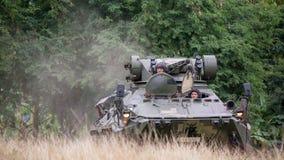 SATTAHIP, ΤΑΪΛΑΝΔΗ - 29 ΙΑΝΟΥΑΡΊΟΥ 2018: 8Ã-8-κυλιεισμένο τεθωρακισμένο όχημα μεταφοράς προσωπικό BTR 3E1 στην κάλυψη ζουγκλών te Στοκ εικόνες με δικαίωμα ελεύθερης χρήσης