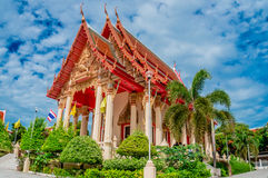 Sattahip district temple at Chonburi,Thailand Stock Photo