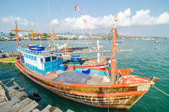 Sattahip, Thailand : Fishing boat. Royalty Free Stock Images