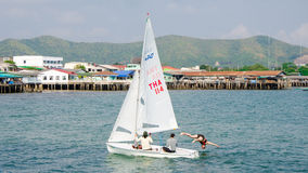 Sattahip, Thailand : sailboat. royalty free stock photography
