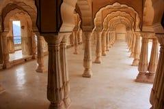 Sattais Katcheri Hall en Amber Fort près de Jaipur, Ràjasthàn, Indi Photographie stock libre de droits