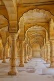 Sattais Katcheri Hall en Amber Fort près de Jaipur, Ràjasthàn, Indi Photographie stock