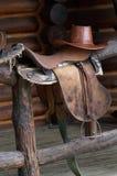 Sattel für Pferd Lizenzfreies Stockfoto