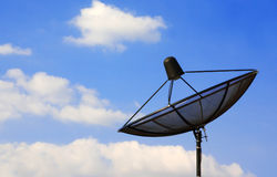 Sattelite dish with blue sky Stock Photo