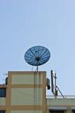 Sattlelite antena i naczynie Obraz Stock
