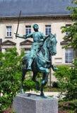 Satue av Jeanne dArc, Reims royaltyfria bilder