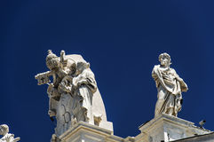 Satue datail of basilica of San Pietro -  Rome Stock Photography
