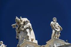 Satue datail van basiliek van San Pietro - Rome Stock Fotografie