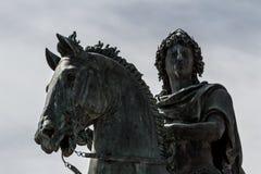 Satue de roi de Louis XIV - Lyon, France images stock