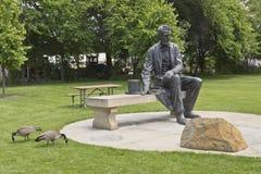 Satue di Abraham Lincoln in un parco immagini stock