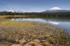 Saturated Color Lake Near Mt. Bachelor Oregon Cascade Range Hori Royalty Free Stock Images