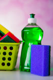Saturated colors, washing concept Stock Images