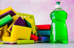 Saturated colors, washing concept Royalty Free Stock Photos