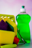 Saturated colors, washing concept Royalty Free Stock Photography