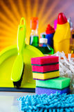 Saturated concept of cleaning Stock Image