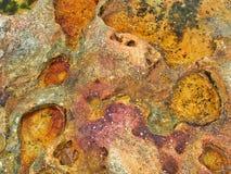 Abstract Sandstone Rock Pattern, Bondi Beach, Sydney, Australia stock photo