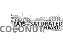 Is Saturated Fat In Coconut Good For Your Heart Health Text Background  Word Cloud Concept Royalty Free Stock Photography