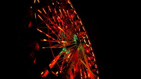 Saturated Ferris Wheel At Night stock footage