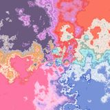 Saturated mottled background in pink, orange, violet and blue Royalty Free Stock Image