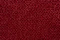Saturated red fabric texture. High resolution photo Royalty Free Stock Image