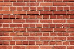 Saturation red brick wall. For texture, background, text or image stock photo