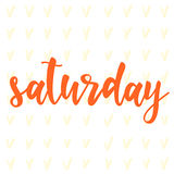 Saturday. Abstract lettering for card, invitation, t-shirt Royalty Free Stock Image