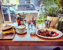 Saturday Brunch. In new york city to start the great day royalty free stock photos