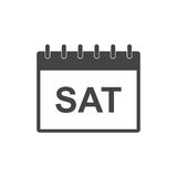 Saturday calendar page pictogram icon. Stock Photography