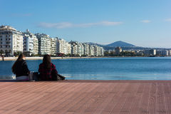 Saturday December 3rd 2016 - Park at the waterfront of Thessaloniki, Greece Stock Photography