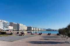 Saturday December 3rd 2016 - Park at the waterfront of Thessaloniki, Greece Stock Image