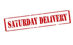 Saturday delivery. Rubber stamp with text Saturday delivery inside,  illustration Stock Photos