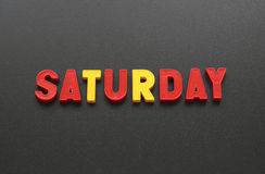 Saturday Royalty Free Stock Photo