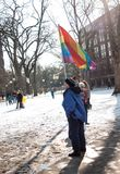 Ann Arbor Michigan 2018 Women`s March. On Saturday, January 20th, 2018, unite in Ann Arbor to rally again!! In response to overwhelming demand, the organizers of Royalty Free Stock Image