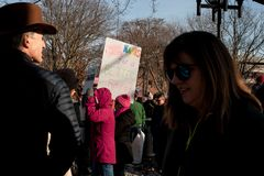 Ann Arbor Michigan 2018 Women`s March. On Saturday, January 20th, 2018, unite in Ann Arbor to rally again!! In response to overwhelming demand, the organizers of Royalty Free Stock Photography