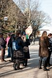 Ann Arbor Michigan 2018 Women`s March. On Saturday, January 20th, 2018, unite in Ann Arbor to rally again!! In response to overwhelming demand, the organizers of Royalty Free Stock Photos