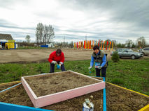 Saturday in the Kaluga region in Russia. Royalty Free Stock Photos