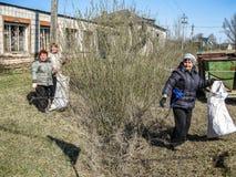 Saturday in the Kaluga region in Russia. Stock Photo