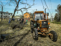 Saturday in the Kaluga region in Russia. Stock Images