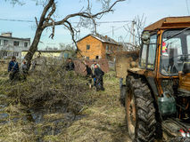 Saturday in the Kaluga region in Russia. Royalty Free Stock Photo