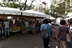 Saturday Market. The famous Salcedo Market at the Salcedo Villgae parking in Makati City Stock Photos