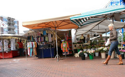Saturday Market in The Netherlands. Saturday shopping market in Almelo,  the Netherlands Royalty Free Stock Photos
