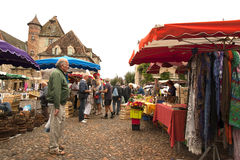 Saturday market Bretenoux France Stock Photography